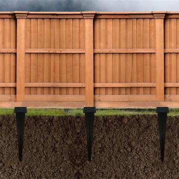 Pointe de sol d'ancrage à poteau carré pour clôture de ferme