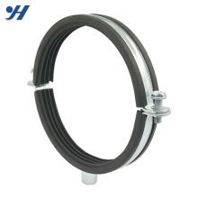 Pince de tuyau de support de tuyau doublée en caoutchouc de fournisseur de la Chine