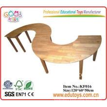 Wooden round desk for preschool