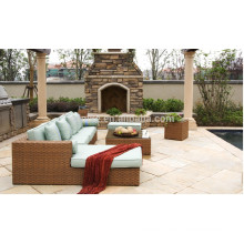 DE-(91) outdoor furniture sofa set designs/ corner sofa with sofa bed
