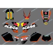 Nuevo estilo (0422 Bull) equipo gráficos y calcomanías de fondos para Ktm Exc 125/200/250/300/400/450/525 2003