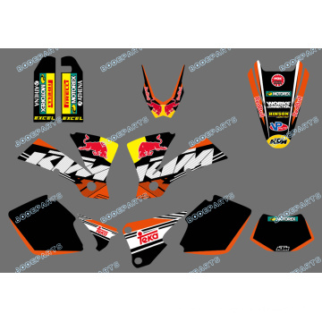 New Style (0422 Bull) Team Graphics & Backgrounds Decalques para Ktm Exc 125/200/250/300/400/450/525 2003