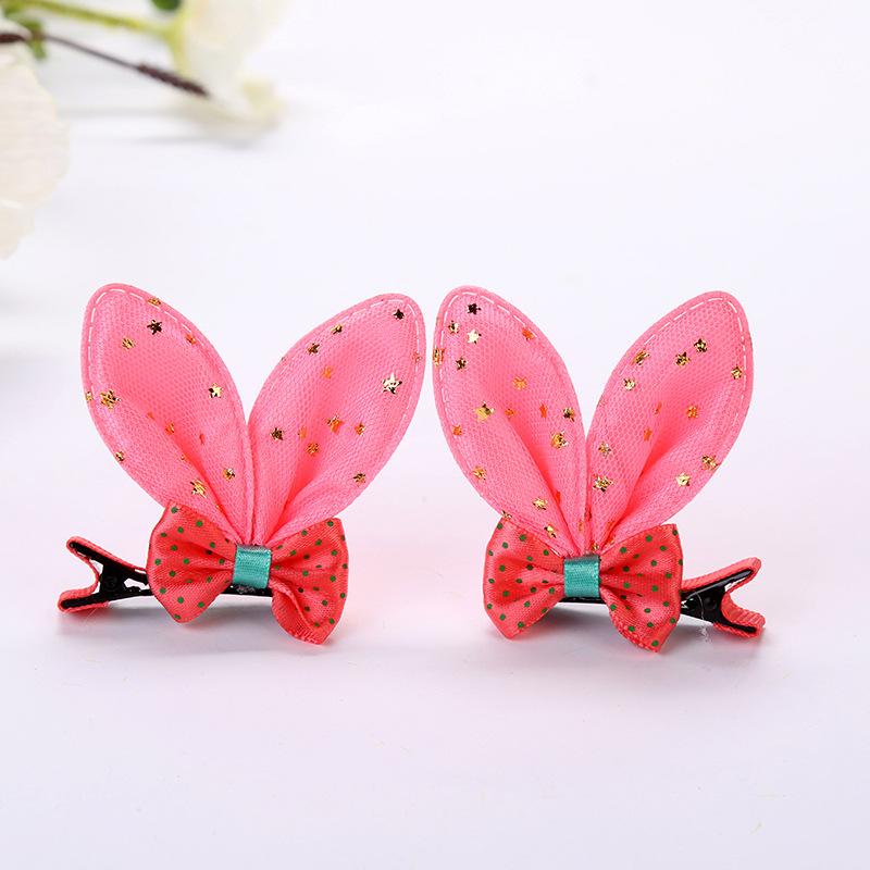 Bow tie rabbit ear hairpin rabbit ear clip (4)