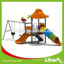 Sculpture animale Terrain de jeu extérieur Swing Bridge avec toboggan épurant