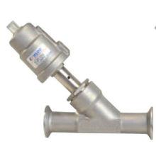 Tri-clamp Tipo de conexión válvula de asiento de ángulo