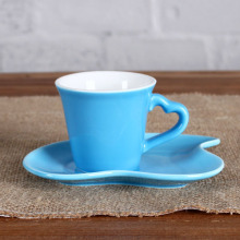 3OZ Blue Sweet love cup and saucer