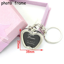 Stainless Steel Fashion Metal Photo Frame Key Chain