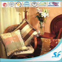 Almofada de seda quadrada de alta qualidade de Febric com laço