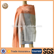 Woven contrast color thin cashmere scarf india