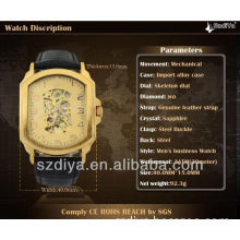 Leather Strap Metal Plated Bracelet Watch Automatic Watch (DYAS80049)