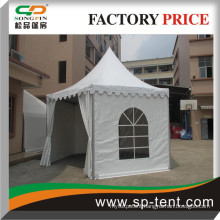 hexagonal marquee with PVC windows for outdoor wedding events