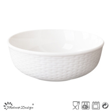 Cheap Porcelain Embossed Ceramic Bowl