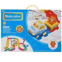 Junge Fahrzeug Spielzeug Blöcke Eisenbahn DIY Spielzeug Zug