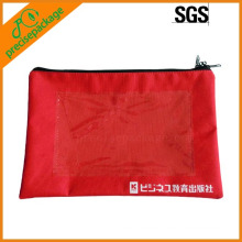high quality nylon zipper closure document pouch