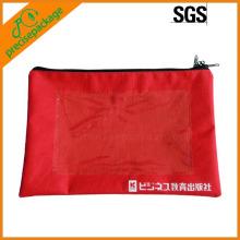 bolsa de documentos de fecho de zíper em nylon de alta qualidade