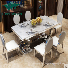 China Hot Sale Marble Top Simple Dining Furniture Tables Sets