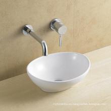 Lavabo de cerámica / de la óvalo de la porcelana para el cuarto de baño (8021)