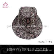 Мода Fedora Hats Оптовые леопардовые блестки шляпы bling bling hat
