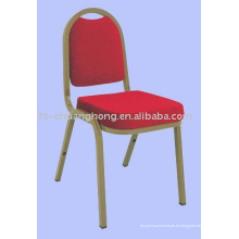 Cadeiras de jantar em aço dourado e tecido vermelho (YC-ZG38-01)