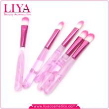 Brosse de fard à paupières maquillage vente chaude poignée acylic rose pas cher