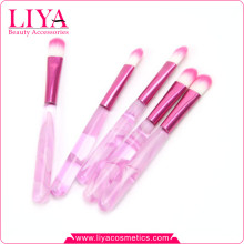 Hot sale cheap pink acylic handle makeup eye shadow brush