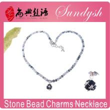 Collar de lujo de piedra de la joyería hecha a mano de jade moldeado collar de lujo