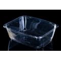 clear disposable plastic salad bowl