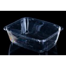 tigela de salada de plástico descartável transparente