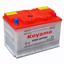 57024 (12V70AH) DIN70 batterie de voiture automobile chargée à sec