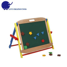Children Kindergarten Home Wooden Standing Magnetic Chalkboard for School