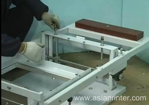 Manual operateing cylinder screen printer