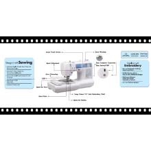 Máquina de bordar de ponto de cadeia Bordados de uso doméstico e máquina de costura Bordados de computador de casa e máquina de costura