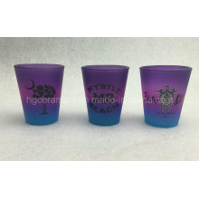 Rainbow Color Shot Glass, Color Spray Shot Glass