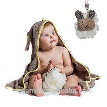 Baby cotton hooded towel Hooded baby towel 100% bamboo high quality baby bath towel--Rabbit