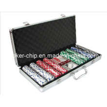 400PCS Poker Chip Set in runder Ecke Aluminium Fall (SY-S22)