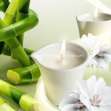 Velas de masaje orgánicas de cera de soja de bambú y jazmín