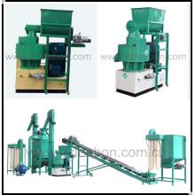 Termine a linha de produção de madeira da pelota da linha / combustível da pelota da serragem automática da biomassa da biomassa