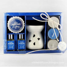 Fragrance Aromatherapy Oil Warmer Incense Burner With Scented Candles Gift Set Ts-cb055