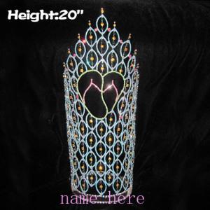 Coronas de verano de cristal grande de 20 pulgadas con zapatillas rosas