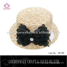 Chapéu de sol de palha de trigo de senhoras com design fascinante Chapéus de praia de verão