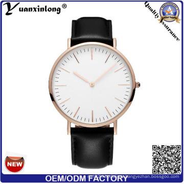 Yxl-569 relojes de moda del precio de fábrica hombres para la venta al por mayor, hombres del OEM ocio nuevos relojes del cuero genuino, reloj de señoras de la manera