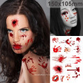 Модный стикер татуировки Хэллоуин костюм