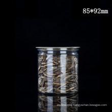 85mm Diameter Series Pet Wild Mouth Bottle for kitchen Storage with Cap