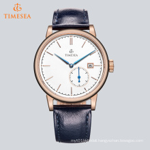 High Quality Quartz Steel Watch with Leather Strap 72654