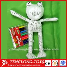 Rana al por mayor rellena juguetes educativos de pintura para niños