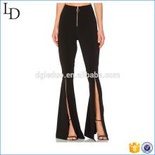 Пользовательские плюс Размер палаццо брюки широкий низ расклешенные брюки для дамы