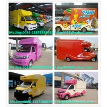 Heißer verkaufender beweglicher Nahrungsmittel-LKW / beweglicher Speicherkarre / beweglicher Schnellimbiß LKW / gebildet in China Berühmte CLW Fabrik
