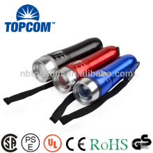 multicolor aluminum 3W zoom portable flashlight TP-373W