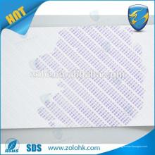 Especial anti-falsificación de agua Etiqueta de productos electrónicos sensibles Material con etiquetas frágiles