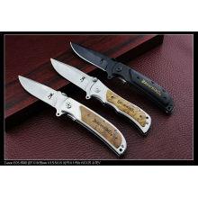 """8.4 """"cuchillo que acampa de madera de la manija (SE-130)"""
